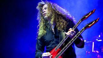 Dave Mustaine, durante un concierto de la banda Megadeth