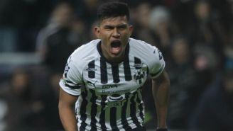 Jesús Gallardo en festejo de gol con el Monterrey