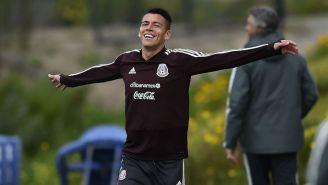 Héctor Moreno, en un entrenamiento con la Selección Mexicana