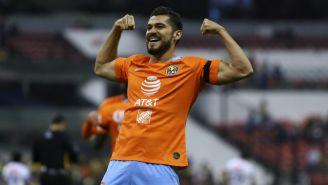 Henry Martín en festejo de gol