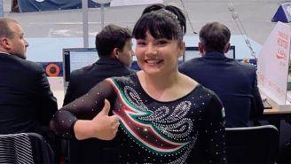 Alexa Moreno durante un evento de gimnasia