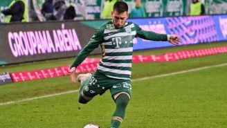 Fernando Gorriarán durante un partido con el Ferencváros