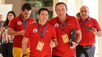 Mario Mendivil (der) en el draft de la Liga MX