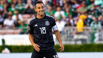 Andrés Guardado, durante un partido con México en la Copa Oro