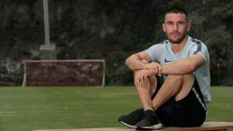 Juan Pablo Vigón, refuerzo de Pumas, posa para la lente de RÉCORD