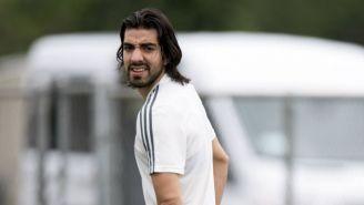 Pizarro en un entrenamiento con la Selección Mexicana