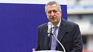 Vergara habla en un evento publico en 2018
