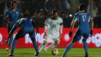 Messi en un juego con Argentina
