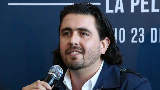 Amaury Vergara durante la presentación de la película de Chivas