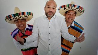 Luis García junto a Huarachín y Huarachón