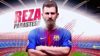 El doble de Messi luce el uniforme del Barcelona