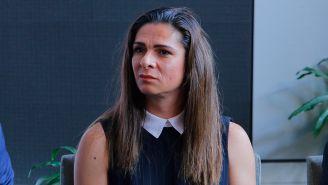 Ana Guevara en un evento con Conade