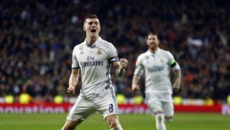Kroos celebra anotación con el Real Madrid