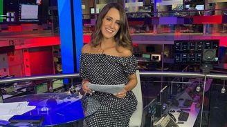 Jimena Álvarez, durante un programa de Televisa