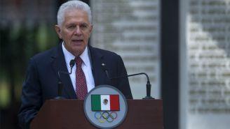 Carlos Padilla, durante una conferencia de prensa en el COM