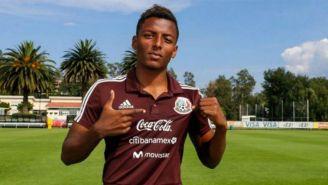 Joao Maleck en un entrenamiento de la Selección Mexicana