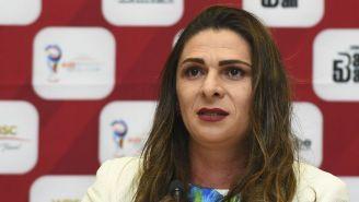 Ana Gabriela Guevara en un evento publico