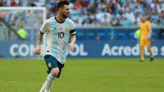 Lionel Messi en el partido contra Venezuela