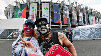 Aficionados de la NFL en el Estadio Azteca