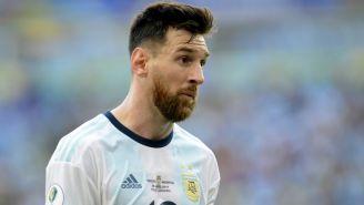 Leo Messi durante un partido contra Venezuela