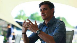 Míchel González habla durante una entrevista