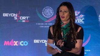 Ana Guevara, titular de Conade, en un evento