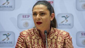 Ana Guevara, en conferencia de prensa