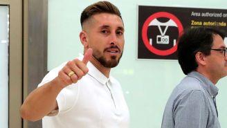 Héctor Herrera a su arribo a Madrid