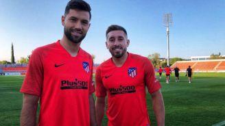 Héctor Herrera y Felipe, en la sesión del Atlético de Madrid