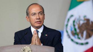 Felipe Calderón en un evento público