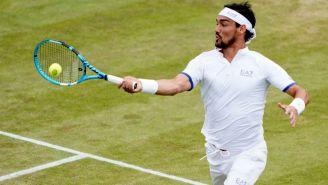 Fabio Fognini, durante un partido en Wimbledon