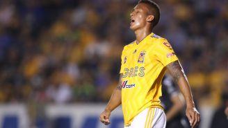 Francisco Meza se lamenta en juego de Tigres