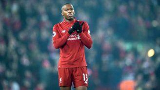 Daniel Sturridge durante un partido con el Liverpool