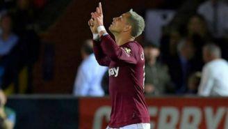 Chicharito, en un partido del West Ham