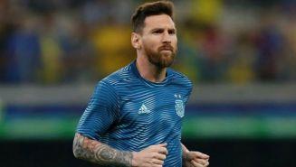 Messi, en un entrenamiento de Argentina