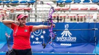 Andrea Maya, durante la Universiada Mundial 2019