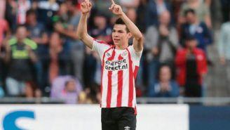 HIrving Lozano celebra uno de sus goles en la Eredivisie