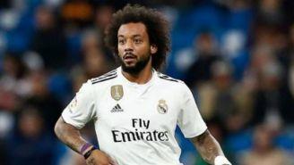 Marcelo, durante un juego con el Real Madrid