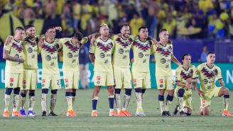 América, durante la tanda de penaltis ante Tigres