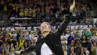 Megan Rapinoe asistió a un encuentro de la WNBA