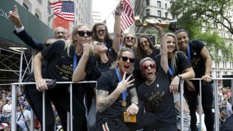 Selección Femenil de Estados Unidos celebran en New York