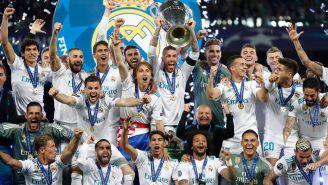 El Real Madrid celebra su última Champions League