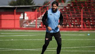 Sebastián Abreu,en una práctica de su equipo