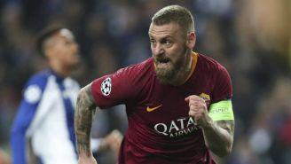 Daniele De Rossi en un partido con la Roma