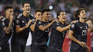 Jugadores del Tri festeja título de la Copa Oro 2019