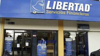 La fachada del edificio de Libertad Servicios Financieros