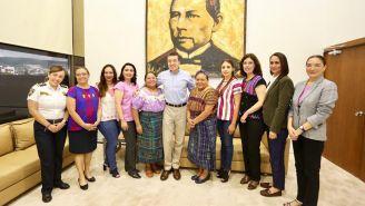 Rigoberta Menchú y su encuentro con el gobernador Rutilio Escandón