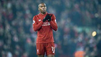 Daniel Sturrigde en un partido con su ex equipo, Liverpool