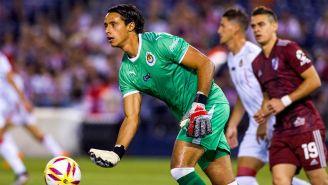Toño Rodríguez en el partido contra River Plate
