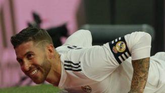Sergio Ramos en un partido con Real Madrid